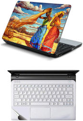 Working Women Laptop Skin with Palmrest Skin for All Laptop - Notebook