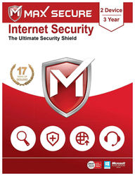 Max Secure Internet Security 2 user 3 year (Email delivery- No CD)