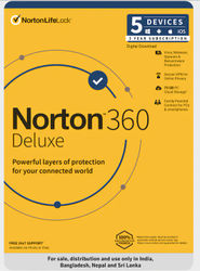 Norton 360 Deluxe 5 Users 3 Years Total Security Includes Antivirus PC Mac Android IOS Email Delivery - No CD