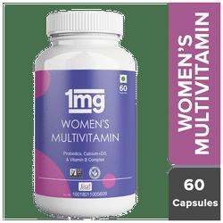 1mg Women s Multivitamin Immunity Booster Zinc Vitamin C Calcium Vitamin D and Iron Vegetarian 60 Tablet (Pack of 1)