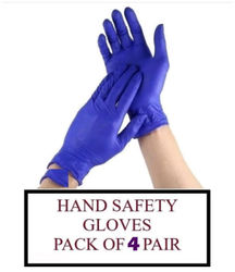 ACE N KING Nitrile Non-Sterile Medical Examination Disposable Gloves - 4 Pairs
