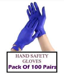 ACE N KING Nitrile Non-Sterile Medical Examination Disposable Gloves - 100 Pairs