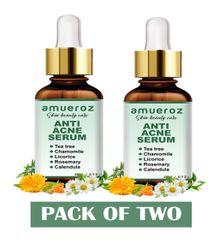 Amueroz Anti Acne serum Acne Clearing Facial Serum Anti-Scar Collagen Serum 15ml (Pack of 2)