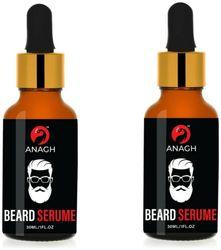 ANAGH Beard Growth Oil For Men For Beard Growth Oil Hair Oil 30 ml Each (Pack Of 2)