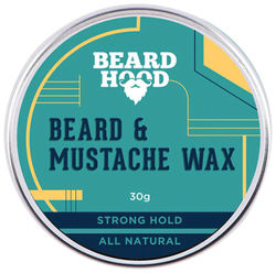 Beard Hood All Natural Mustache And Beard Wax For Strong Hold Natural Musky Scent 30g