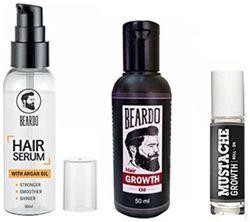 Beardo Beard And Hair Growth Oil 50 ml Beardo Mustache Growth Roll On Beardo Hair Serum With Argan Oil - 50 ml Combo