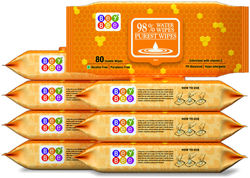Bey Bee - Hypoallergenic Baby Water Wipes for New Born Babies (8 Pack 640 Water wet wipes)