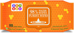Bey Bee - Hypoallergenic Baby Water Wipes for New Born Babies (1 Pack 80 Water wet wipes)