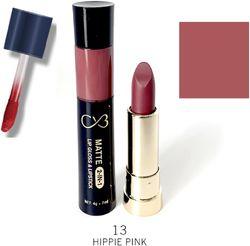 CVB Paris Matte 2in1 Lipgloss 7ml Lipstick 4g Shade 13 (Color-Violet)