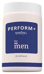 ForMen Perform Contains herbal extracts like Gingko biloba Ashwagandha Satavari Safed Musli Brahmi leaf Minerals like Zinc and Magnesium and Vitamins like Vitamin D3 Two capsules per day