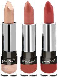 GlamGals Creme Lipsticks 3 5 g Each (Pack of 3) Multi Color