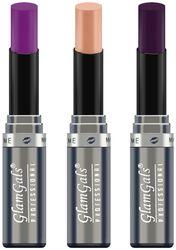 GlamGals Creme Lipsticks 3 g Each (Pack of 3) Multi Color