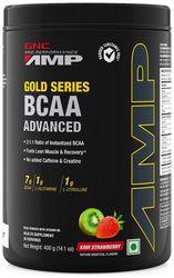 GNC AMP Gold Series BCAA Advanced with Vitamin B6 - 14 1 Oz 400 gm (Kiwi Strawberry)