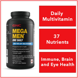 GNC Mega Men One Daily Multivitamin 60 Tablets