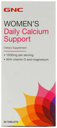 GNC Women s Daily Calcium Support with Vitamin D and Magnesium - 90 Tablets