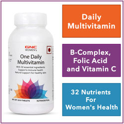 GNC Women s One Daily Multivitamin - Supports Immune Health and Healthy Skin - 60 Tablets
