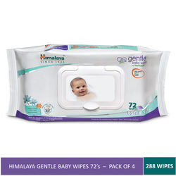 Himalaya Gentle Baby Wipes 72 (Pack of 4) (288 Wipes)