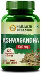 Himalayan Organics Ashwagandha 1000Mg Serve Energy Endurance 120 Veg Capsules
