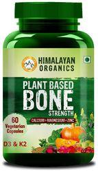 Himalayan Organics Plant Based Bone Strength Supplement Calcium Magnesium Zinc 60 Veg Capsules