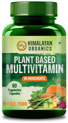 Himalayan Organics Plant Based Multivitamin with 60 Extracts- 60 Vegetarian Capsules (60)