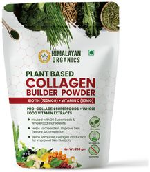 Himalayan Organics Plant Based Collagen Builder Powder for Skin Regeneration Anti-Aging Beauty Repair (with Sea Buckthorn Acai Berry 20 Wholefood) 250 g