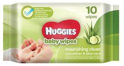 Huggies Baby Wipes - Cucumber Aloe 10 Pulls