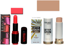 Incolor Soft Creme Lusty Lips Lipstick And Concealer Corrector Stick Rose Pack of 2 (3 8 g Lipstick 5 g Concealer)