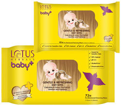 Lotus Herbals Baby Combo Pack Gentle and Refreshing Baby Wipes (72 Count) (10 Count)