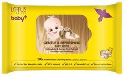 Lotus Herbals baby Gentle Refereshing Baby wipes 10N (Pack of 3)