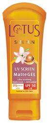 Lotus Herbals UV Screen Matte Gel - Spf 50 (100 g)