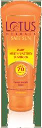Lotus Herbals Daily Multi Funcion Sunblock Spf 70 Pa 60 g