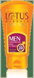 Lotus Herbals Men Advanced Daliy UV Shield Spf 30