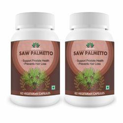 Madren Healthcare Pushpveda Saw Palmetto Ext 800mg Vegetarian Capsule 60 (Pack of 2)