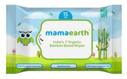 Mamaearth Organic Bamboo Based Wipes - Travel Pack 15 pcs