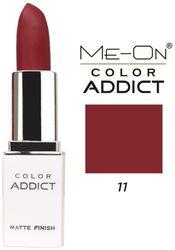 Me-On Color Addict Matte Lipstick Shade 11 (Wine) 3 g