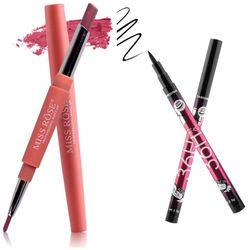 Miss Rose Lipliner plus Lipstick shade 7 (1 5 g) and 36hrs Long lasting Smudeproof Eyeliner(1 5 g)