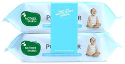 Mother Sparsh 99 Pure Water (Unscented) baby wipes 72 pcs (Pack of 2)