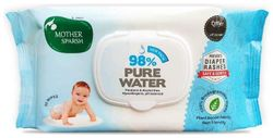 Mother Sparsh Baby Biodegradable Water 80 Baby Wipes (Pack of 5)