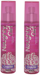 Naughty Girl CHARM No Gas Perfume Spray for Women Pack of 2 (60ml each)