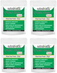 Nutrabiotik Wheat Grass Powder 200g (Pack of 4)