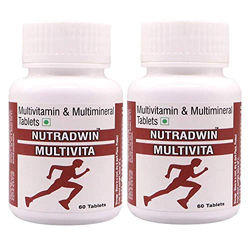 Nutradwin Multivitamin Multiminerals Antioxidant Natural Extract Ginseng Ginkgo Biloba Extract- 60 Tablets (Pack of 2 )
