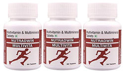 Nutradwin Multivitamin Multiminerals Antioxidant Natural Extract Ginseng Ginkgo Biloba Extract- 60 Tablets (Pack of 3 )