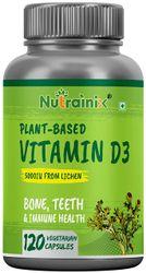 Nutrainix Vitamin D3 5000Iu With K2 As Mk7 100Mcg Supplement 120 Veg Tablets