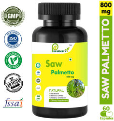 Puraberry Extra Strength Saw Palmetto 100 Natural 800mg Extract for Prostate Health - Urinary Health - Supports DHT Blocker and Strengthens Maintain Healthy Hair - 60 Vegetarian Capsules