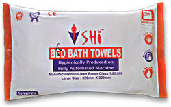 SHI BED BATH TOWEL SET OF 1 PACKET X 10 TOWELS - Size 320 mm x 320 mm
