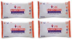 SHI BED BATH TOWEL SET OF 4 PACKET X 10 TOWELS - Size 320 mm x 320 mm