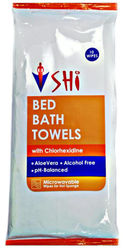 SHI Bed Bath Towel With Chlorhexidine 10 wipes x 1 packet (10 pc)