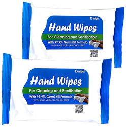 SHi Hand Wipes Wet Wipes with Aloe Vera for Cleaning and Sanitization Pack of 3 (15 Wipes x 1 Pack)