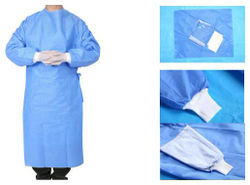 SHI Pre Sterilized Non Woven Disposable Surgical Gown 5 Disposable Gowns (Pack of 5)