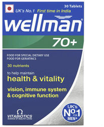 Wellman 70 - Health Supplements (30 Nutrients) - 30 Tablets